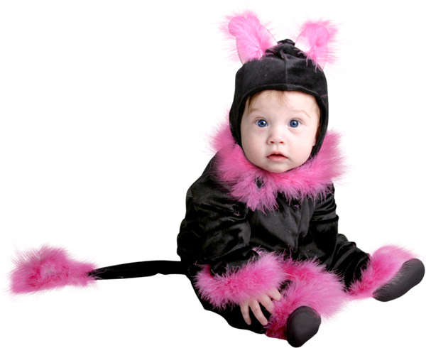 Baby Pink Cat Costume