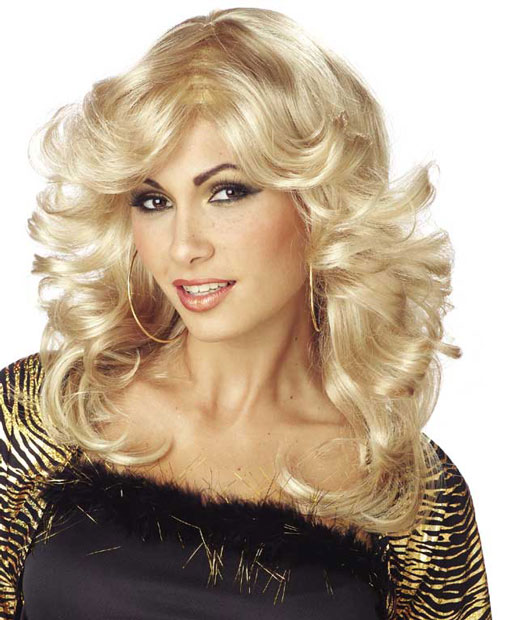 Women's 70's Style Blonde Disco Wig