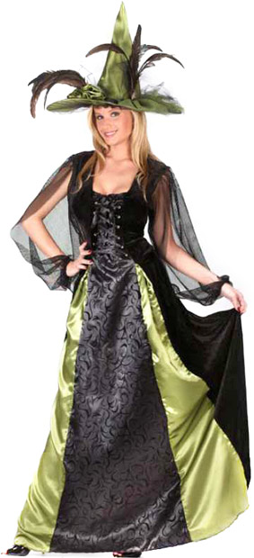 Adult Goth Maiden Witch Costume
