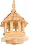 Octagon Wooden Bird House Feeder