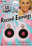 50s Record Earings