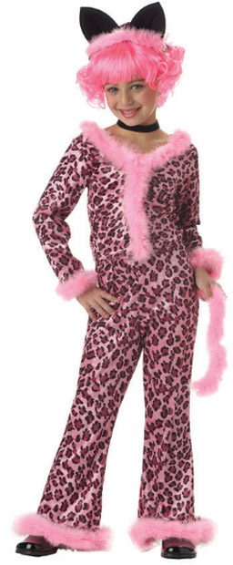 Child's Pink Sassy Cat Costume
