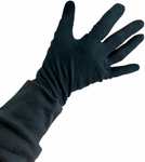 Child's Black Cotton Gloves