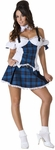 Adult Sexy Blue School Girl Costume