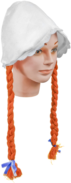 Dutch Girl Costume Hat with Braids