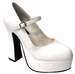 Sexy White Platform Costume Shoes