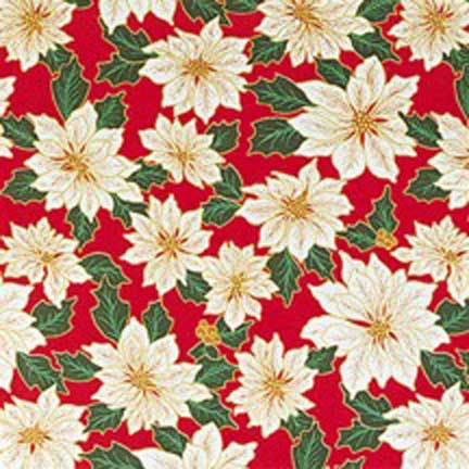 Red Poinsettia Christmas Bandanas