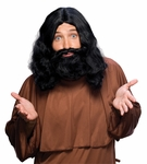 Black Jesus Wig and Beard Set