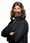 Brown Jesus Wig and Beard Set