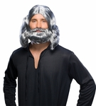 Grey Jesus Wig and Beard Set
