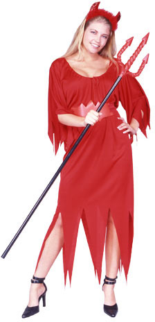 Adult Red Devil Lady Costume