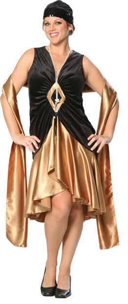 Plus Size Roaring 20s Costume Dress