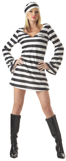 Adult Paris Hilton Prison Costume