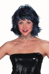 Black & Blue Choppy Layered Wig