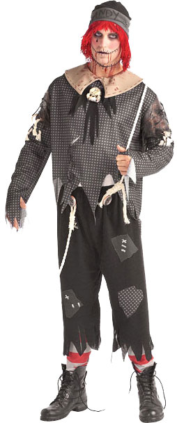 Adult Gothic Rag Doll Boy Costume