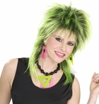 80s Style Neon Necklace And Earrings Set