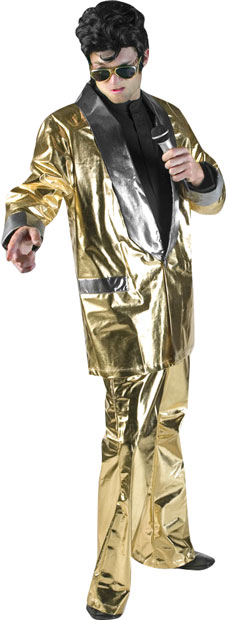 Gold Lame Theater Elvis Costume
