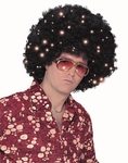 Light-Up Black Afro Wig