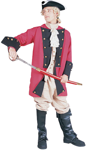 Adult Deluxe Red Colonial Captain Costume