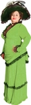 Plus Size Green Victorian Era Theater Costume Dress