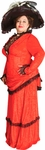 Plus Size Red Victorian Era Theater Costume Dress