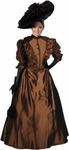 Women's Brown Victorian Drama Costume Dress