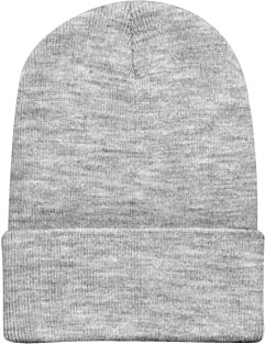 Beanie Ski Cap Hat in Light Grey