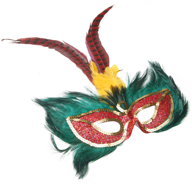 Congo Feather Eye Mask
