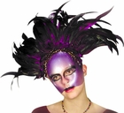 Amethyst Feather Mask