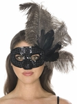 Black Feather Eye Mask