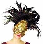 Gold Feather Mask