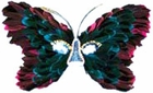 Pink & Blue Butterfly Feather Eye Mask