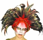Ruby Feather Mask