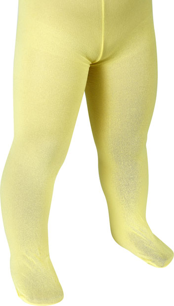 Child's Solid Yellow Tights