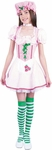 Child's Strawberry Girl Dress Costume