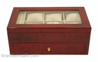Wooden Watch Storage Box Case in Cherry