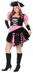Women's Sexy Plus Size Pink Pirate Costume