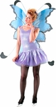 Adult Blue & Black Fairy Costume Wings