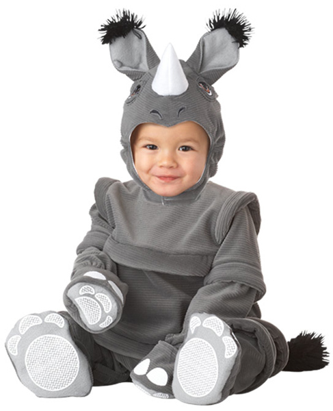 Toddler Plush Rhinoceros Costume
