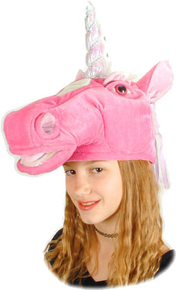 Child's Pink Unicorn Hat