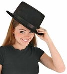 Adult Soft Black Top Hat