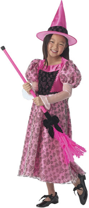 Toddler Pink Barbie Witch Costume