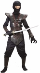 Child Leather Black Ninja Fighter Costume