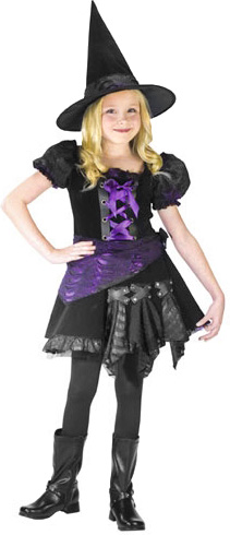 Child's Purple Punk Witch Costume
