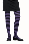 Child's Black & Purple Striped Tights