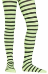 Childs Striped Tights Lime