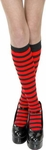 Girl's Black & Red Knee High Striped Socks