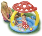 Mushroom Baby Pool with Inflatable Floor