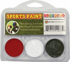 Burgundy, White, Black Face Paint Kit for Sports Fans
