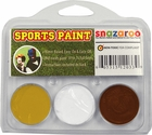 Gold, White, Maroon Face Paint Kit for Sports Fans